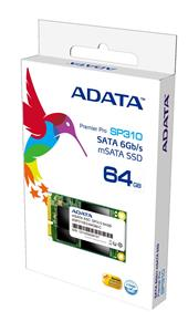 ADATA Premier Pro SP310 64GB mSATA Internal SSD Drive